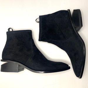 NEW Alexander Wang Kori Suede Chelsea Boots 37